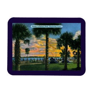 Charleston, South Carolina, Battery Park, Vintage Magnet