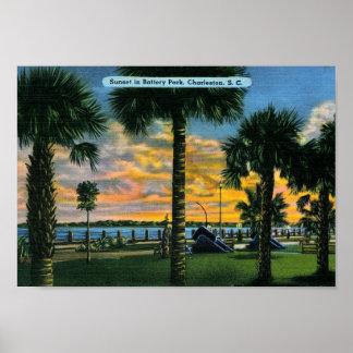 Charleston, South Carolina, Battery Park, Vintage Poster