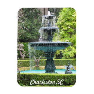 Charleston South Carolina Garden Fountain Magnet
