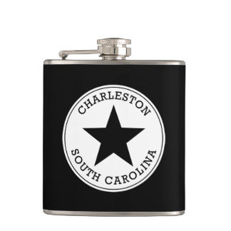 Charleston South Carolina Hip Flask