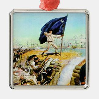 Charleston, South Carolina June 1776 Square Metal Christmas Ornament