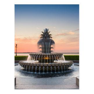 Charleston South Carolina Pineapple Fountain Postcard
