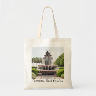 Charleston, South Carolina Pineapple Fountain Tote Bag