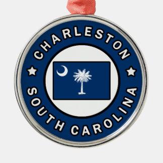 Charleston South Carolina Silver-Colored Round Decoration