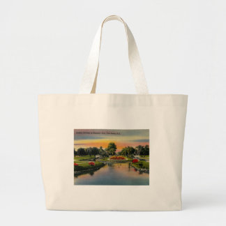 Charleston, South Carolina, Vintage Large Tote Bag