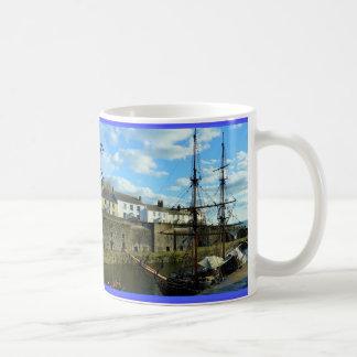 Charlestown Cornwall England Poldark Location Basic White Mug