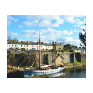Charlestown Cornwall England Poldark Location Canvas Print