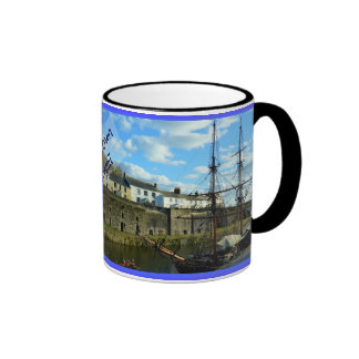 Charlestown Cornwall England Poldark Location Ringer Mug