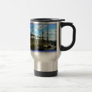 Charlestown Cornwall England Poldark Location Stainless Steel Travel Mug