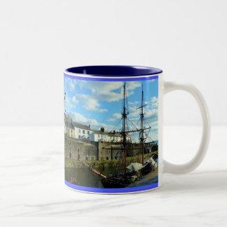 Charlestown Cornwall England Poldark Location Two-Tone Mug