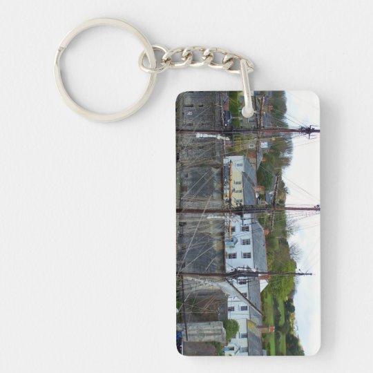 Charlestown Harbour Cornwall England Key Ring