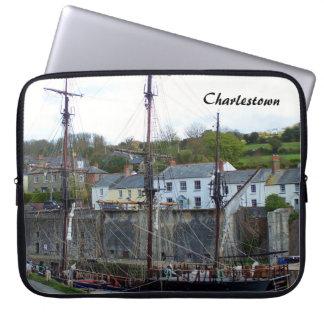 Charlestown Harbour Cornwall England Laptop Sleeve