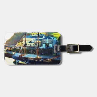 Charlestown Harbour Cornwall England Luggage Tag
