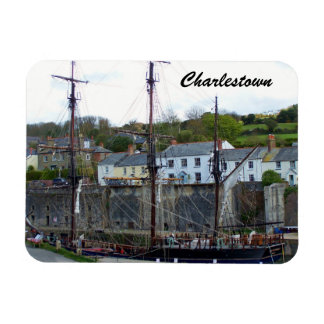 Charlestown Harbour Cornwall England Magnet