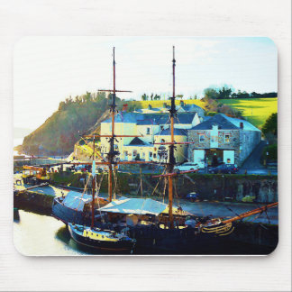 Charlestown Harbour Cornwall England Mouse Mat