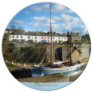 Charlestown Harbour Cornwall England Plate