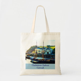 Charlestown Harbour Cornwall England Budget Tote Bag