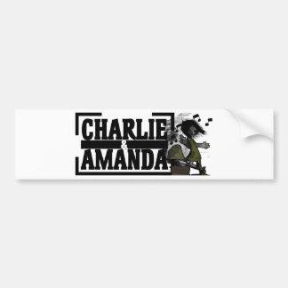 Charlie & Amanda Gramophone Bumper Sticker