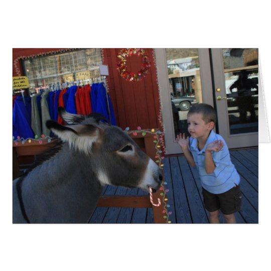Charlie and the Christmas burro Card