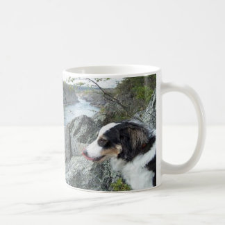 """Charlie at Great Falls""~Border Collie Mug"