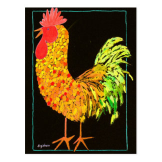Charlie Cheery Rooster #1 Postcard