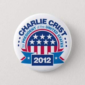 Charlie Crist for President 2012 6 Cm Round Badge
