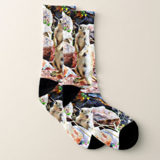Charlie Ground Squirrel Unisex Socks