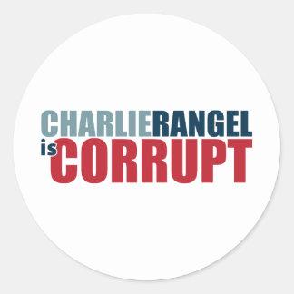 Charlie Rangel is Corrupt Stickers