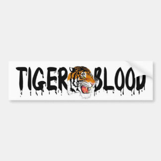 Charlie Sheen TIGER BLOOD Bumper Sticker