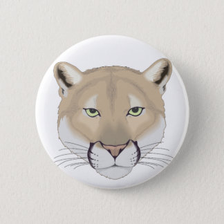 Charlie the Cougar 6 Cm Round Badge