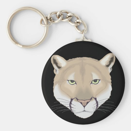 Charlie the Cougar Basic Round Button Key Ring