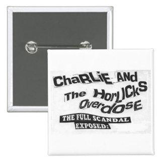 Charlie & THO Punk Band Badge Pinback Button