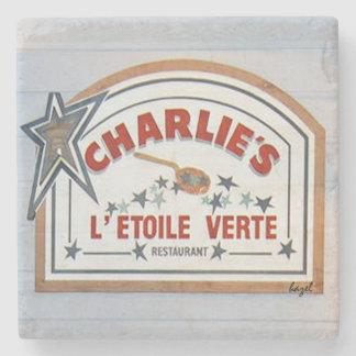 Charlie's L'etoile Verte, Hilton Head Coaster. Stone Coaster