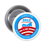 Charlotte 2012 Democrat Convention Pinback Buttons
