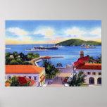 Charlotte Amalie St. Thomas Virgin Islands Downtow Poster