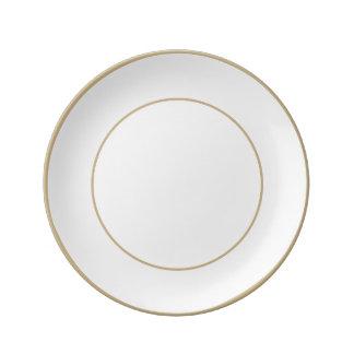 Charlotte Blue - Baby Princess Blue Porcelain Plates