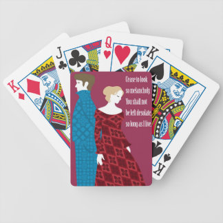 """Charlotte Bronte """"Jane Eyre"""" gift with quote Bicycle Playing Cards"""