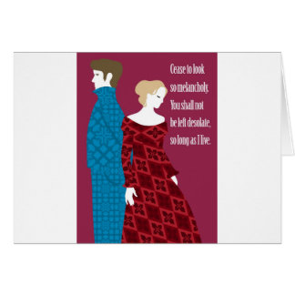 "Charlotte Bronte ""Jane Eyre"" gift with quote Card"
