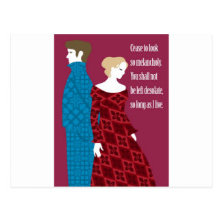 "Charlotte Bronte ""Jane Eyre"" gift with quote Postcard"