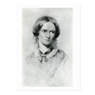 Charlotte Brontë portrait by George Richmond Postcard