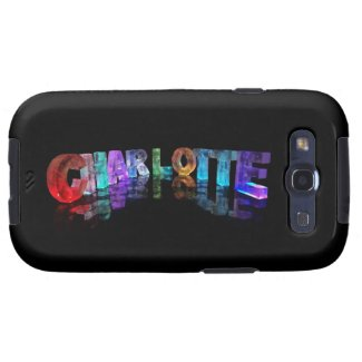 Charlotte - Cool Name in 3D Lights Samsung Galaxy S3 Cover