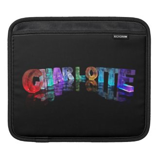 Charlotte - Cool Name in 3D Lights iPad Sleeve
