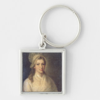 Charlotte Corday Silver-Colored Square Key Ring