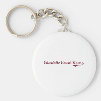 Charlotte Court House Virginia Classic Design Keychains