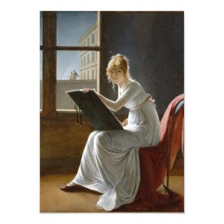 Charlotte du Val d'Ognes by Marie-Denise Villers 13 Cm X 18 Cm Invitation Card