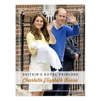 Charlotte Elizabeth Diana - British Royal Princess Postcard