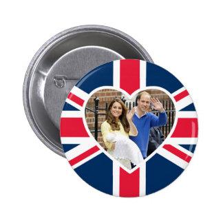 Charlotte Elizabeth Diana - British Will Kate 6 Cm Round Badge