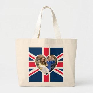 Charlotte Elizabeth Diana - British Will Kate Large Tote Bag