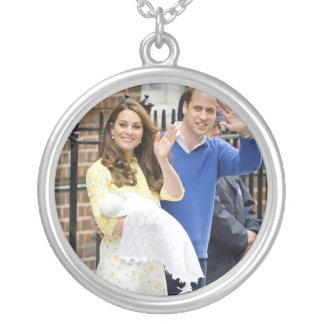 Charlotte Elizabeth Diana - British Will Kate Round Pendant Necklace