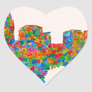 Charlotte Flower Heart Sticker